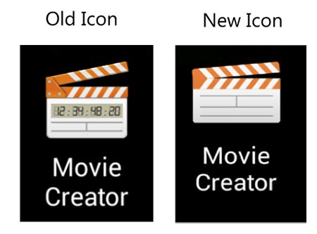 Новые кнопки и интерфейс видео редактора в стиле Material Design на Сони Иксперия