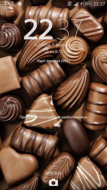 """""""Сладкая"""" тема Chocolate для Сони Иксперия Z3, Z2, Z1, Компакт, ZR, ZL, М2, С3, Т2, Т3, Ультра"""