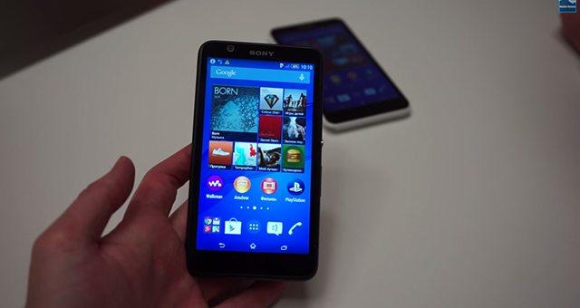 Видео с Sony Xperia E4
