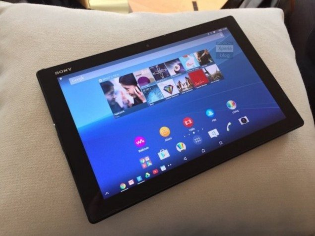Sony Xperia Z4 Tablet на первом фото