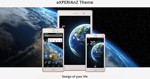 Тема Планета Земля для Sony Xperia Z3, Z2, Z1, Compact, Z, ZR, ZL, M2, C, T2, T3, SP, C3 Ultra