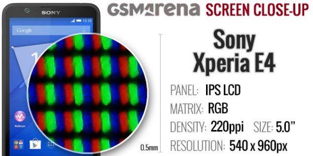 Подробный обзор Sony Xperia E4 - дисплей