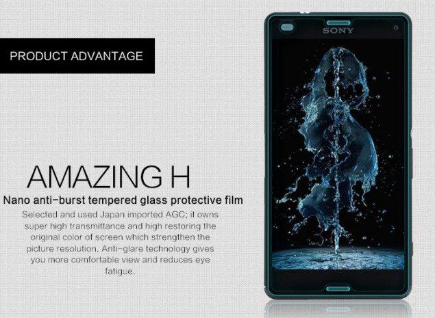 Переднее и заднее защитное стекло для Sony Xperia Z3 Compact