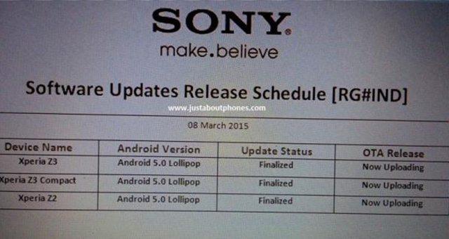Android Lollipop выйдет в марте на Xperia Z3 (Compact) и Z2