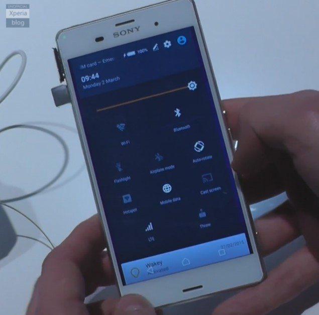 Видео работы Sony Xperia Z3 с Android 5.0.2 Lollipop
