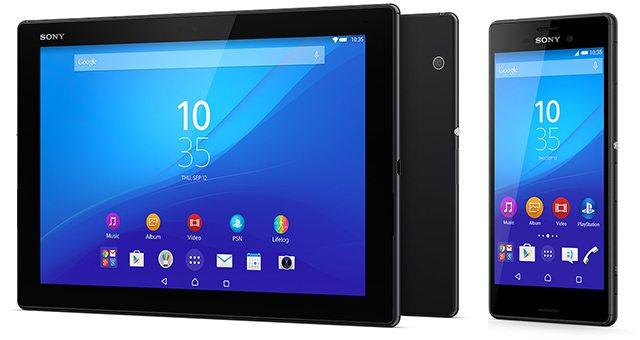 Европейские цены Sony Xperia M4 Aqua и Sony Xperia Z4 Tablet