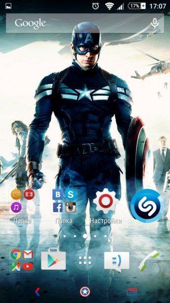 Xperia Тема Captain America для  -Sony-Xperia-Z3-Z2-Z1-Compact-M4-E4-Z-ZR-ZL-M2-C3-T2-T3-Ultra-Tablet