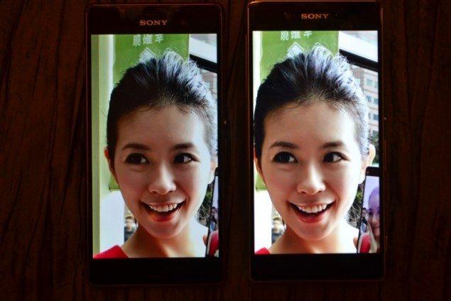 Сравнение экранов Xperia Z3+ и Xperia Z3