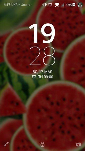 Watermelon Flat – арбузная тема для Сони Иксперия Z3, Z2, Z1, Компакт, М4, ZR, ZL, М2, С3, Т2, Т3, Ультра