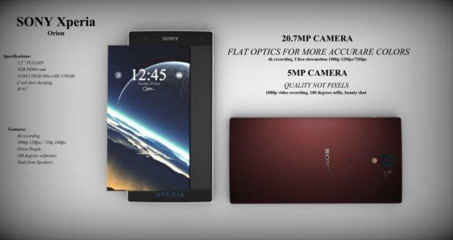 Интересный концепт смартфона Sony Xperia Orion
