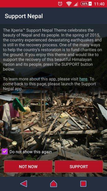 Support Nepal тема для Sony Xperia Z3, Z2, Z1, Compact, M4, Z, ZR, ZL, M2, C3, T2, T3, Ultra