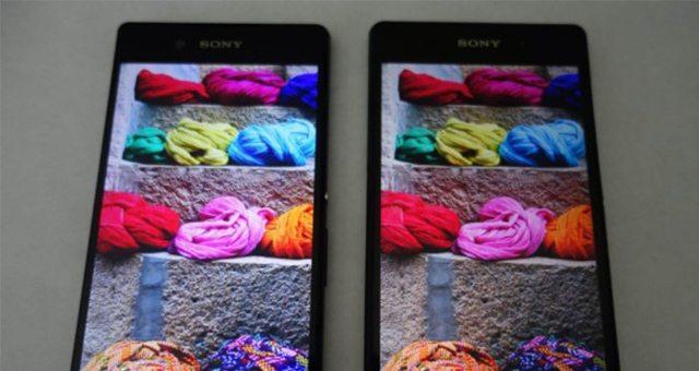 сравнение экрана Sony Xperia Z3+ vs Xperia Z2