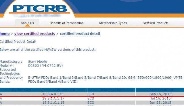 сертификация Android 5.1 Lollipop на Сони Иксперия М2 и М2 Аква