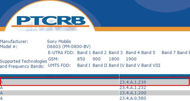 сертифицирована 23.4.A.1.236 для Xperia Z3 и Xpria Z2