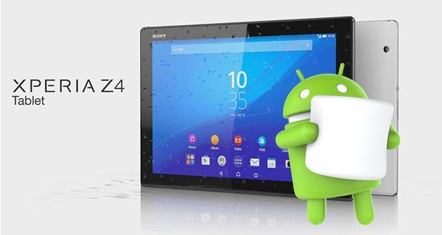новости Android 6.0 Marshmallow Sony Xperia Z4 Tablet