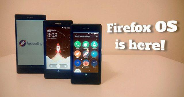 Firefox OS на Sony Xperia!