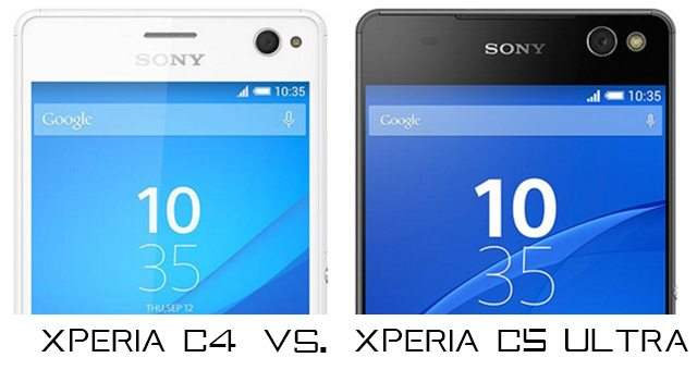 Sony Xperia C5 Ultra vs Xperia C4