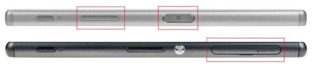 дизайн Sony Xperia Z5 vs Xperia Z3 - сравнение внешнего вида