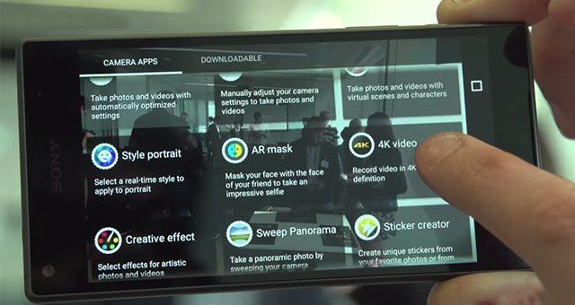 Xperia Z5 Compact в тесте записи 4к