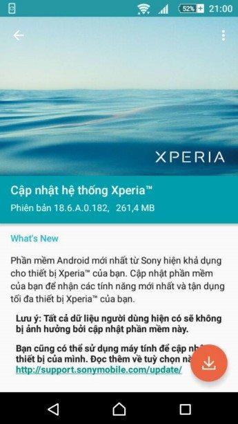 обновление 18.6.A.0.182 на Sony Xperia M2