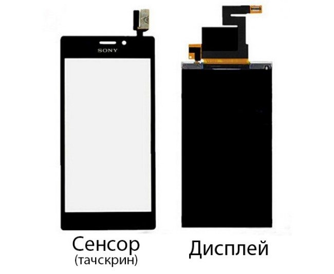 купить дисплей на Sony Xperia M2 и инструкция по его замене