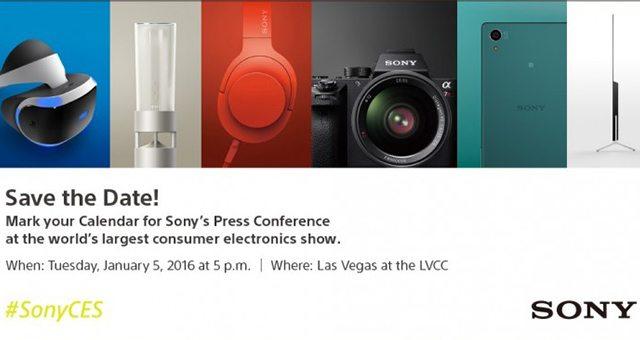 Sony CES 2016 приглашение на выставку