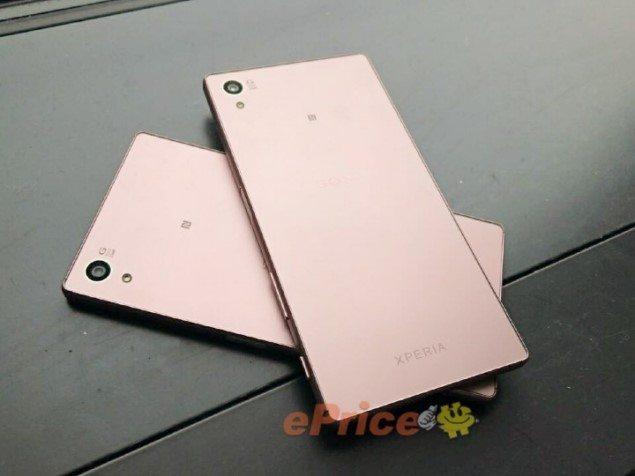 Sony Xperia Z5 Rose Quartz живые фото