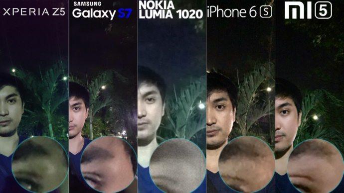 тест камеры Sony Xperia Z5 против Galaxy S7, Lumia 1020, Mi5, iPhone 6s - сравнение качества фото и видео