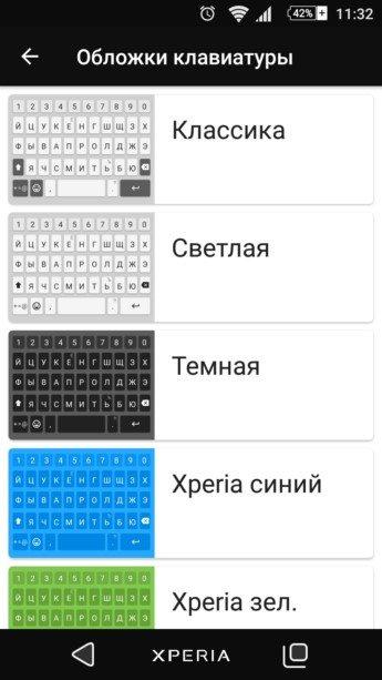 обновлённая Клавиатура Xperia 7.2.A.0.32 - скачать и установить