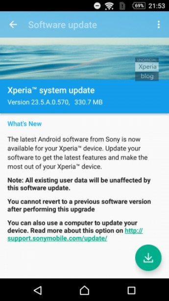выход бета-прошивки Android 6.0.1 Beta (23.5.A.0.570)