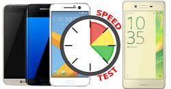 сравнительный тест корости работы Sony Xperia X vs Galaxy S7 vs HTC 10 vs LG G5 vs Huawei P9 в реальных условиях
