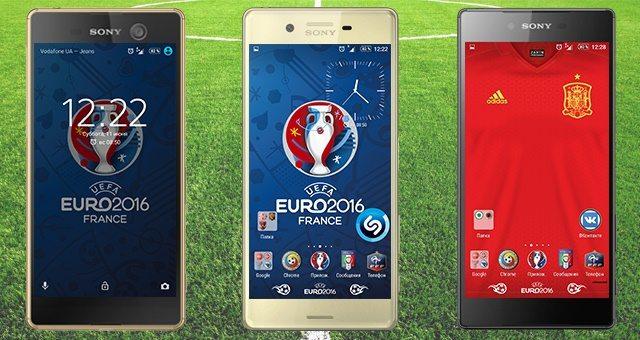 Euro 2016 Xperia Theme - тема, иконки, обои ЧМ Европы по футболу