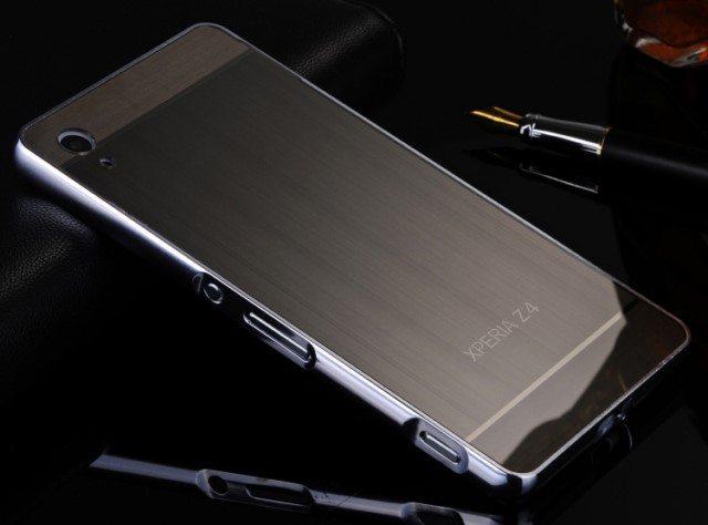 стильный металлический бампер для Сони Иксперия Z3 Z2 Z1 с крышкой