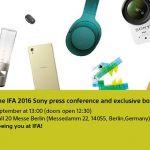 Sony приглашают на IFA 2016 и сертификация новых смартфонов FCC