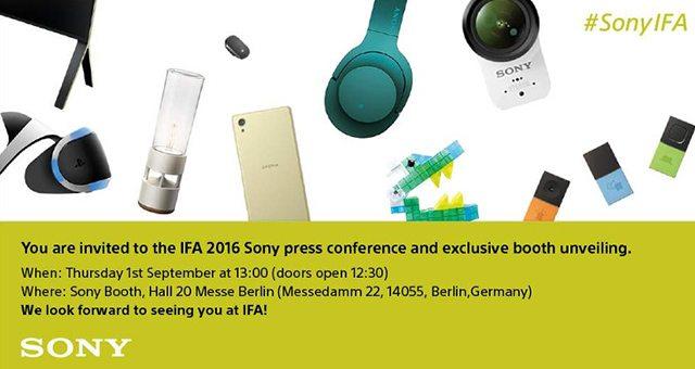 приглашение Sony IFA 2016