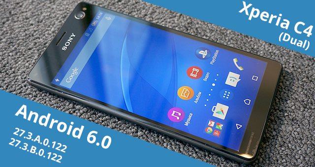 Обновление Android 6 0 для Xperia C4 (27 3 A 0 122) и C4