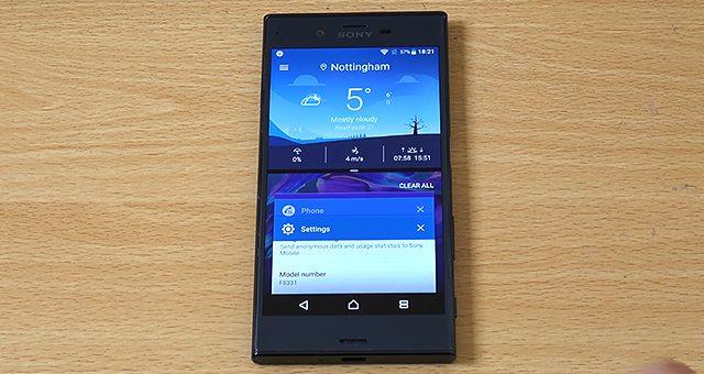 работа Sony Xperia XZ с Android 7.0 Nougat