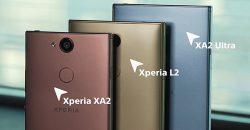 Xperia XA2 Ultra, Xperia XA2 и Xperia L2 - новинки Sony 2018