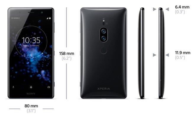 Sony Xperia XZ2 Premium размеры